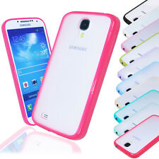 New Hard Transparent Back Soft Bumper Case Cover FOR Samsung Galaxy S4 i9500