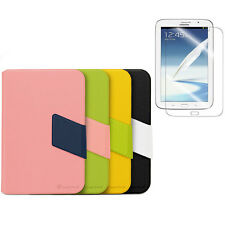 Samsung Galaxy Note 8.0 PU Leather Smart Cover Pocket w/ Stand Case Cover + Film