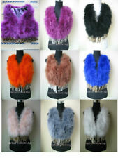 Free shipping/Real ostrich feather and rabbit fur tassels vest/waistcoat 8color