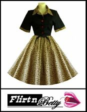 50s Vintage Style Skirt & Top for Rockabilly Rock n Roll Dance Cheetah Leopard