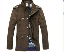 new fashion men's spell colors water wash cultivate one's morality jacket coat