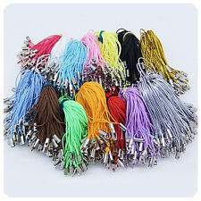 100pcs Charm Mobile Phone Dangle Strap String Thread Cord U Pick Color