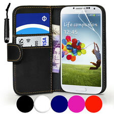 Accessories Samsung Galaxy S4 i9500 PU Leather Wallet Case Cover & Mini Stylus