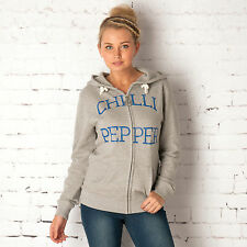 Chilli Pepper Womens Zip Thru Sweat In Grey Marl From Get The Label