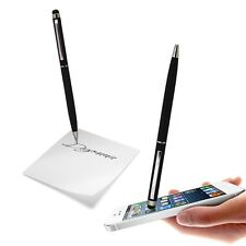 CAPACITIVE DUAL FUNCTION STYLUS PEN BLACK SOFT TOUCH FOR VARIOUS MOBILE PHONES