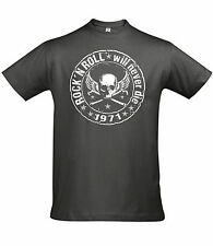 T-Shirt Biker Hotrod Shirt Rock n Roll Oldschool Vintage V8 US Car Chopper Skull