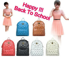 backpack EXO Kpop Luhan JYJ Yuchun schoolbag bigbang super junior SNSD rivet bag
