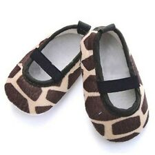 BABY GIRL COW PRINT BEIGE & BROWN PRAM /CRIB/BALLET SHOE SIZE GUIDE IN LISTING