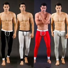 Sexy Men's Low Rise Modal Underwear Long johns Thermal Pants Underwear Trousers