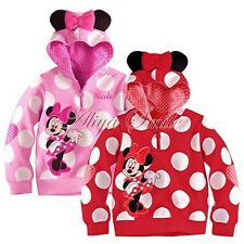 Polka Dots Toddler Girls Hoodie Coat Kids Minnie Mouse Bow T Shirt Costume 12M-5