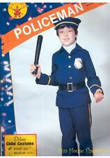 DELUXE POLICEMAN POLICE OFFICER COP HALLOWEEN COSTUME Uniform Outfit Child 10045