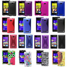 Color Hard Snap-On Rubberized TPU Matte Case Cover Skin for HTC Windows Phone 8X