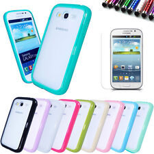 Bumper Case Cover+Screen Film+Stylus For Samsung Galaxy Grand Duos i9080 i9082