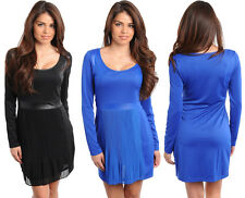 Women Fashion Long Sleeve Casual Party Evening Cocktail Chic Mini Dress
