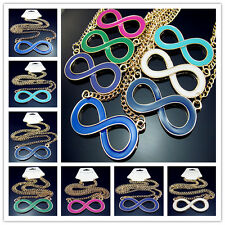 Free Lucky 8 words big Pendant 30 Inch Gilding Chain Necklace Many colors Choose