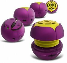 Portable Mp3 Speaker Rechargeable Purple W/ Micro USB/TF Card For Most Phone