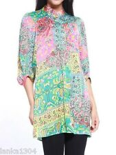 Turquoise 3/4 Sleeve Party wedding Tunic Kaftan Top Dress (NEW) Sizes-£28.00