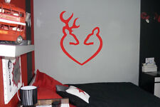 Deer Browning Heart Vinyl Wall Car Decal Sticker, BIG or SMALL, Highest Quality