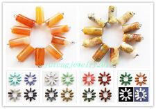 YIYI-45 10pcs Mixed Gemstone Pendant Bead Wholesale!please Pick Stone