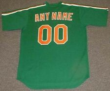 "NEW YORK METS Majestic Cooperstown ""St. Patty Day"" ""Customized"" Baseball Jersey"