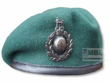 ROYAL MARINES COMMANDO GREEN BERET & OFFICIAL CAP BADGE RM SBS SAS 53 to 62cm