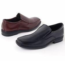 Alpine Swiss Mens Leather Dress Shoes Dressy Slip on Loafers Good For Suit Jeans