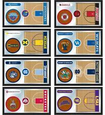 "Choose Your NCAA K-O Team 26x15"" Framed Lithograph Color Basketball Wall Mirror"
