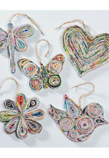 BNWT Namaste Recycled Paper Christmas Decorations!!