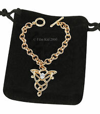 Arwen Evenstar BRACELET Hobbit LOTR Lord of The Rings T-Bar Chain GOLD Gift Bag