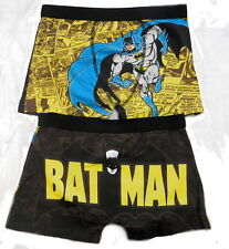 Batman Men's Boxer Trunks Black and Yellow Sizes S-XL Available