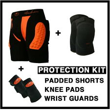 protective gear kit padded shorts+knee pad+wrist guard body armour snowboard ski