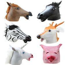 Halloween Creepy Horse Animal Head Latex Rubber Mask Costume Prop Novelty Party