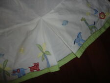 POTTERY BARN KIDS CRIB SKIRTS CRIBSKIRTS ALPHABET SOUP MONKEY TRAIN ZOO