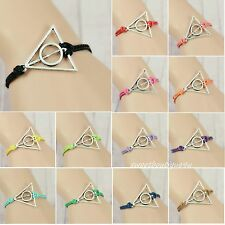 Charm  jewelry Silver Harry Potter Deathly Hallows pendant DIY bracelet for gift