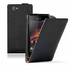 ULTRA SLIM Leather Flip Case Phone Cover for Sony Xperia M C1904 / C1905