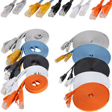 CAT5E Ethernet Network Flat Cable 3FT 6FT 10FT 15FT 25FT Color CAT5 Cord PC LAN