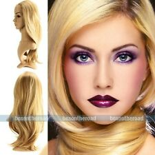 High quality Light Blonde Straight lace front full wig Synthetic Hair #F27-613
