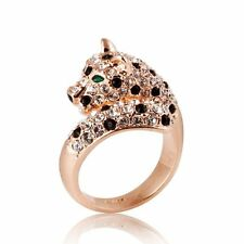 Leopard Ring Rose Gold Plated Use Swarovski Element R345 Available in Size 5--9
