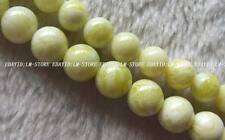 10mm 12mm Natural lemon Jasper Round Beads 15.5""