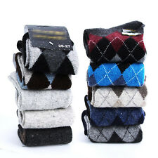 New High Cut Winter Warm Ankle Socks  Multi Colors Men's Argle Wool Fleece Socks