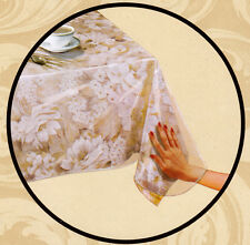 Crystal Clear Vinyl Tablecloth Protector Table Cover Choice of Assorted Sizes