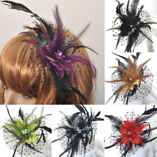 Wholesale Handmade Hair Accessory Fascinator Feather Flower Crystal Head Band