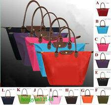 Foldable double waterproof nylon fabric shoulder bag or handbag 12 colors