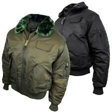 Mens Location MA2 Pilot Military Army Flight Bomber Jacket Original Combat Coat