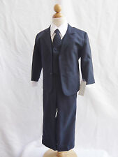 Navy Dark Blue boy infant toddler teen youth formal suit graduation bridal party
