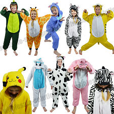 CHILDRENS ANIMAL ZOO ONESIE KIDS PYJAMA FANCY DRESS COSTUME ONESIES KIGURUMI