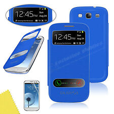 S View Screen Leather Flip Smart Case Battery Cover For SAMSUNG Galaxy S3 i9300