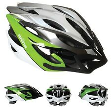 NEW CYCLE HELMET - PROFESSIONAL ARINA SPIRIT WHITE & GREEN - ADJUSTABLE FITTING