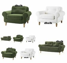 IKEA LUND BJUV SLIPCOVER Cover GREEN 0r WHITE for 2 Seat Loveseat 0r Armchair