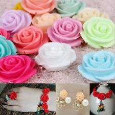 10mm 12mm 15mm Gorgeous Rose Flower Coral Resin Spacer Beads 10/20PCS U Pick